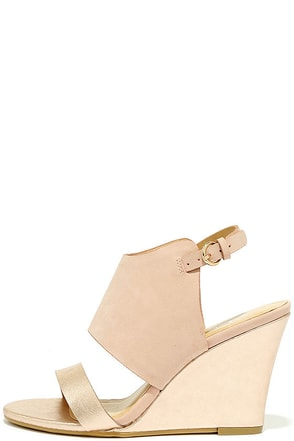 CL by Laundry Baja Rose Gold Multi Wedge Sandals at Lulus.com!