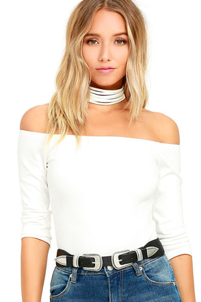 Like a Bird White Off-the-Shoulder Bodysuit at Lulus.com!