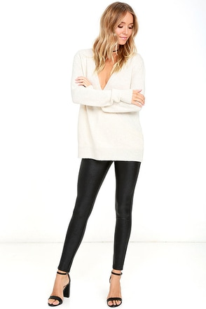 Jack by BB Dakota Roddy Black Snake Print Leggings at Lulus.com!