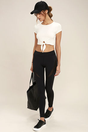 Stylish Stride Black Leggings at Lulus.com!