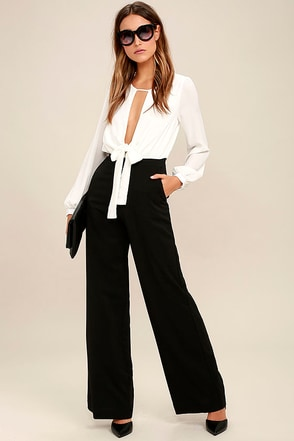 Overjoyed Black and White Jumpsuit at Lulus.com!