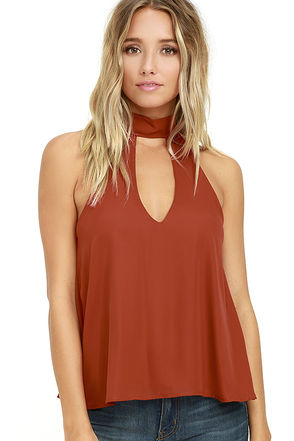 Flashback Rust Red Top at Lulus.com!
