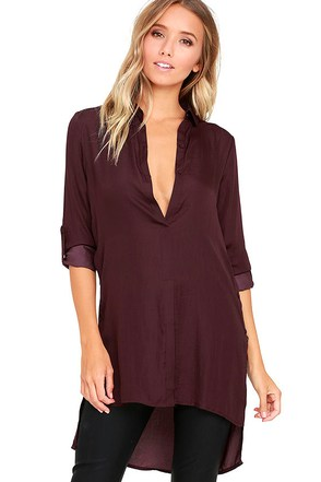 Catch the Breeze Plum Purple Tunic Top at Lulus.com!