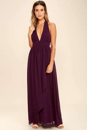 Stop and Stare Light Grey Halter Maxi Dress at Lulus.com!