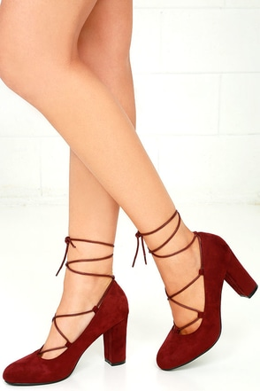 Sway to Go Taupe Suede Lace-Up Heels at Lulus.com!