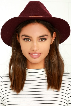 Billabong Better Over Here Burgundy Fedora Hat at Lulus.com!