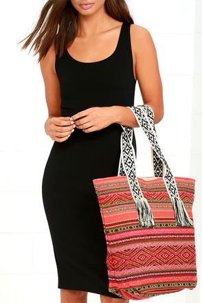 Billabong Absolute Wander Pink Print Tote at Lulus.com!