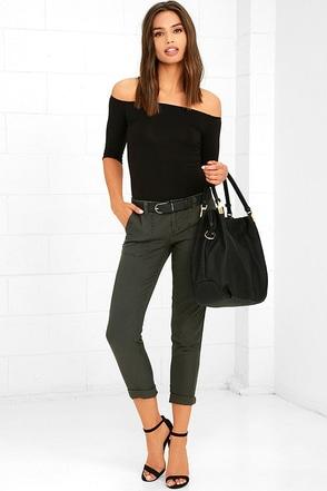 Billabong Piece of Mind Washed Black Pants at Lulus.com!
