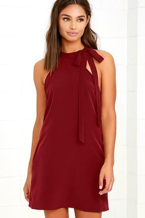 Mon Cheri Wine Red Dress at Lulus.com!