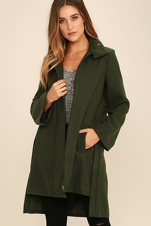 The Fifth Label The Elixir Olive Green Coat at Lulus.com!