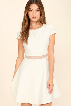Legendary Lovers White Skater Dress at Lulus.com!
