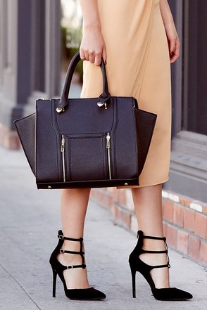 Wing-Woman Black Handbag 1