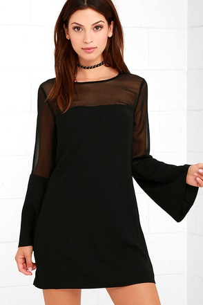 Equinox Black Long Sleeve Dress at Lulus.com!