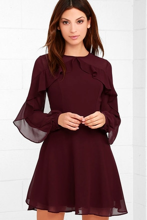 Quiet Grace Black Long Sleeve Dress at Lulus.com!