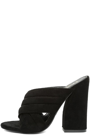 Retro Reveries Black Suede Mules at Lulus.com!