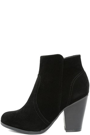 Aubrey Grey Suede Ankle Booties at Lulus.com!