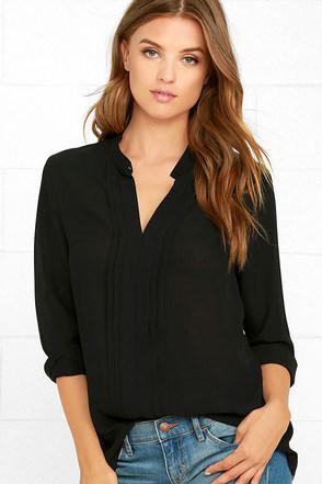 In Tune Black Long Sleeve Top at Lulus.com!