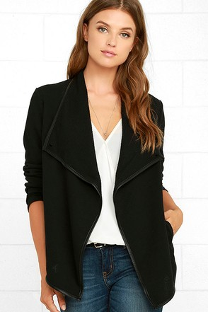 Jack by BB Dakota Melbourne Black Jacket at Lulus.com!