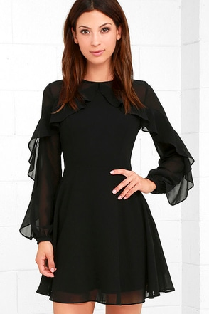 Quiet Grace Burgundy Long Sleeve Dress at Lulus.com!