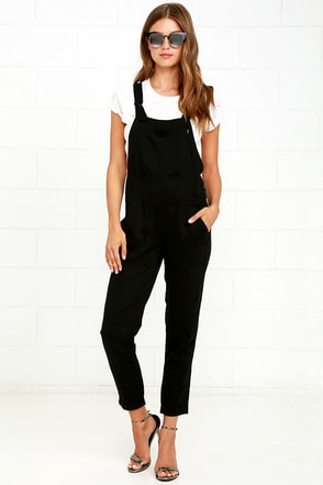 Obey Ridgefield Black Overalls at Lulus.com!