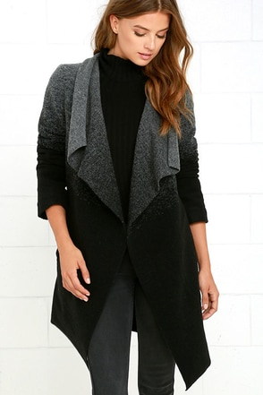 BB Dakota Kinney Grey and Black Ombre Coat at Lulus.com!