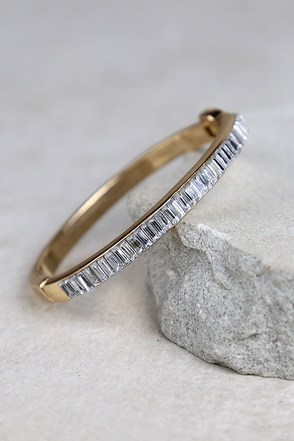 You'll Be Mine Gold Rhinestone Bracelet at Lulus.com!
