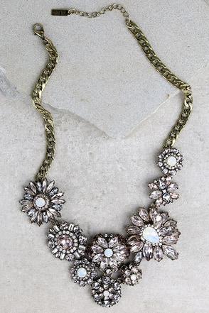 Ever So Enchanting Light Pink Rhinestone Statement Necklace at Lulus.com!