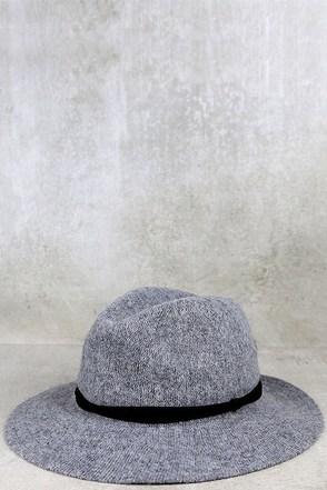 Stand by Me Heather Grey Fedora Hat at Lulus.com!