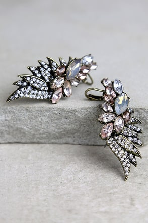 Fairy Godmother Gold Rhinestone Ear Cuffs at Lulus.com!