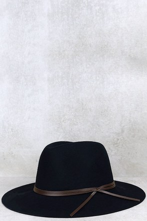 Sassafras Black Fedora Hat at Lulus.com!