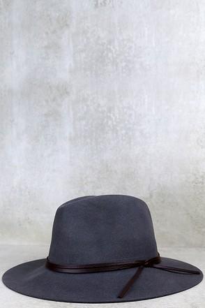 Sassafras Dark Grey Fedora Hat at Lulus.com!
