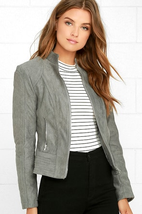 BB Dakota Stuart Grey Suede Jacket at Lulus.com!
