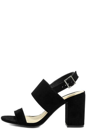Stay Forever Black Suede High Heel Sandals at Lulus.com!