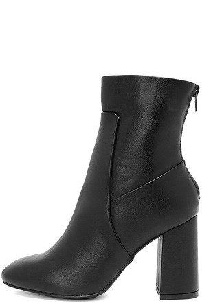 Weekend Getaway Black High Heel Mid-Calf Boots at Lulus.com!