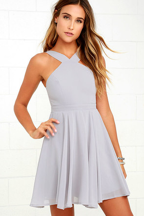 Forevermore Peach Skater Dress at Lulus.com!