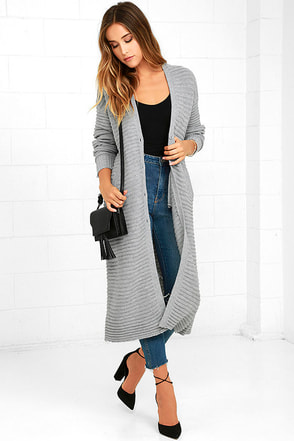 The Fifth Label Game Changer Grey Long Cardigan Sweater at Lulus.com!