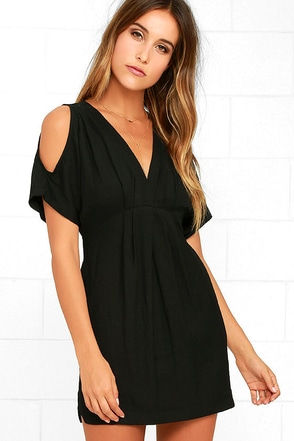 Game Changer Black Dress at Lulus.com!
