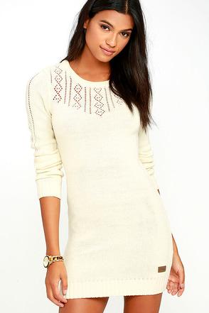 Element Eden Mara Cream Sweater Dress at Lulus.com!