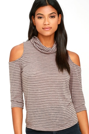 Try Me Out Mauve Striped Top at Lulus.com!