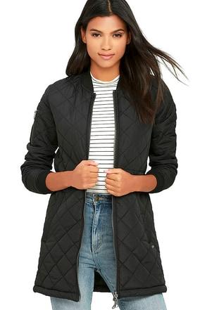 Element Eden Bamby Black Puffer Jacket at Lulus.com!