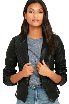You and I Black Vegan Leather Moto Jacket at Lulus.com!