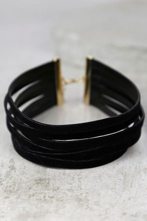 Slay Hey Black Choker Necklace at Lulus.com!