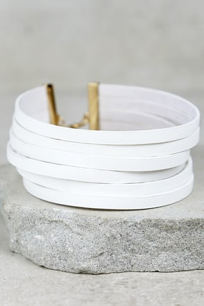 Slay Hey White Choker Necklace at Lulus.com!