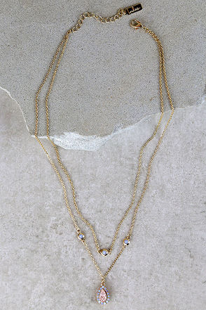 Rock Out Gold Layered Necklace at Lulus.com!