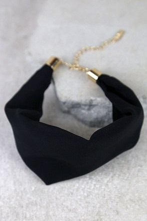 Kind Soul Black Choker Necklace at Lulus.com!