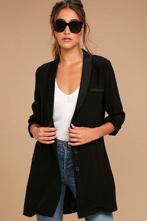 Only the Lucky Black Blazer at Lulus.com!