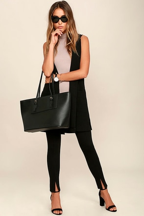 Business Casual Black Leggings at Lulus.com!