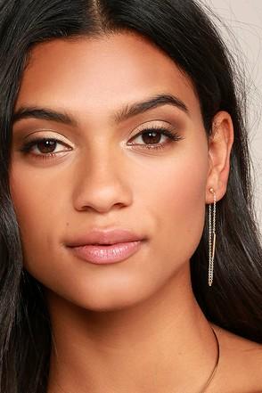 Look-See Gold Peekaboo Earrings at Lulus.com!