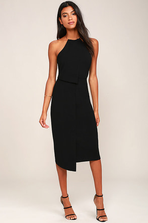 Keepsake Clockwork Black Midi Dress at Lulus.com!