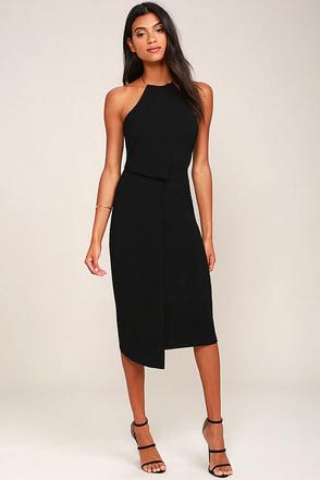 Keepsake Clockwork Black Midi Dress at Lulus.com!